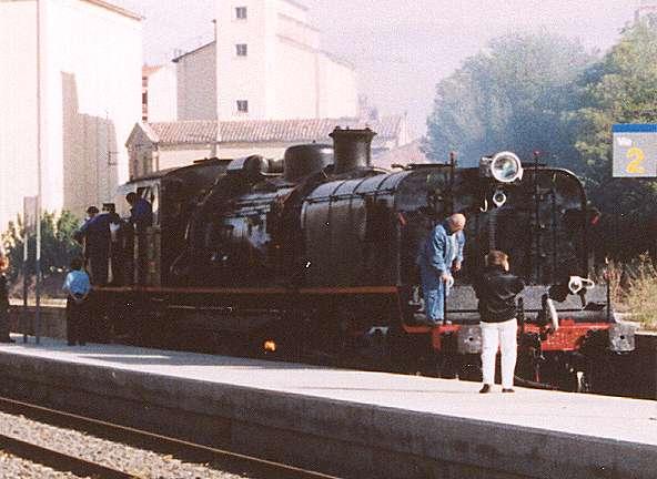 a British built Garratt steam locomotive
